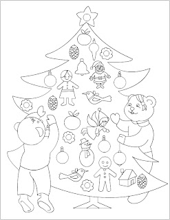 free winter tree coloring pages | Nicole's Free Coloring Pages: Christmas tree * Winter ...