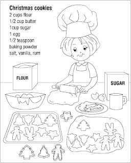 christmas cookies printable coloring pages | Nicole's Free Coloring Pages: Christmas cookies * coloring ...