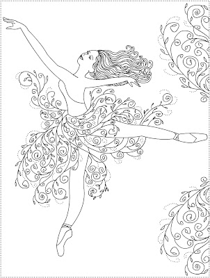 Nicole's Free Coloring Pages: Ballerina Primavera * Ballet ...