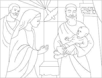 Nicole S Free Coloring Pages Baby Jesus To The Temple