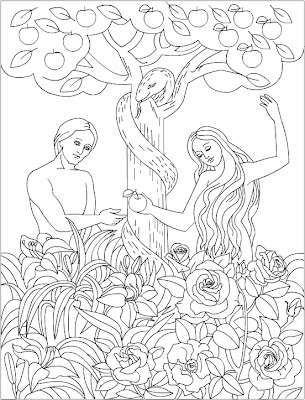 Nicole's Free Coloring Pages: Adam and Eve * Bible ...