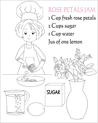 Nicole's Free Coloring Pages: Rose Petals Jam * coloring