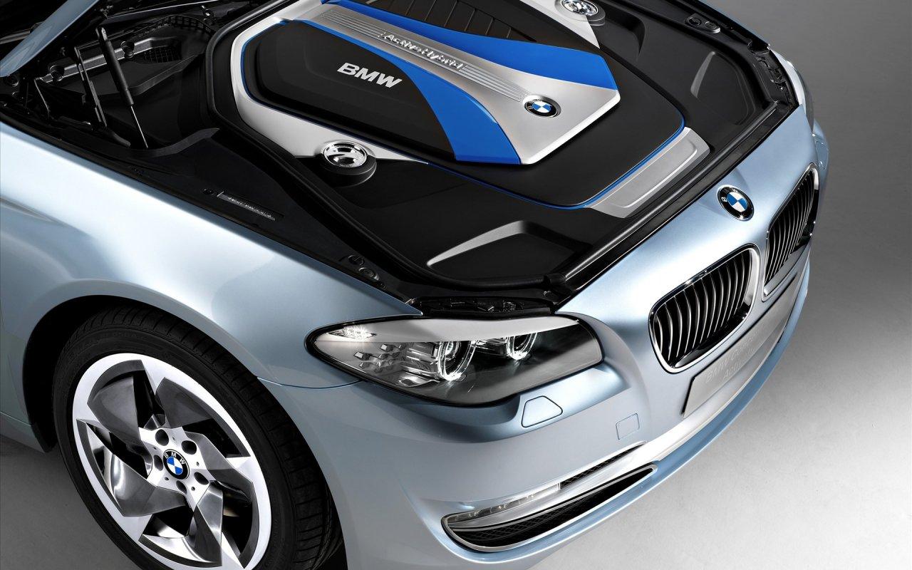 Car Logos Bmw Series 5 Active Hybrid Concept Engine