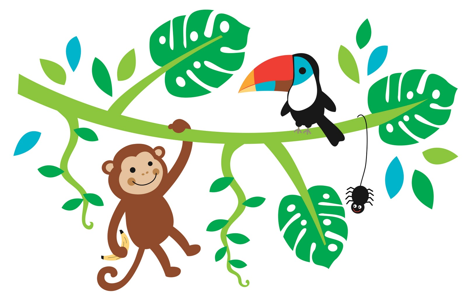 Jungle Animals Wall Stickers | Car Interior Design