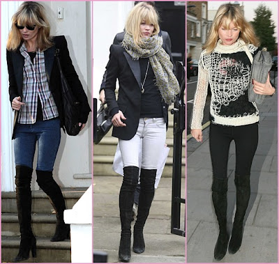 a845c2fb0ed Daisy Lowe and Alice Dellal both share a love for the Fendi suede OTK boots.