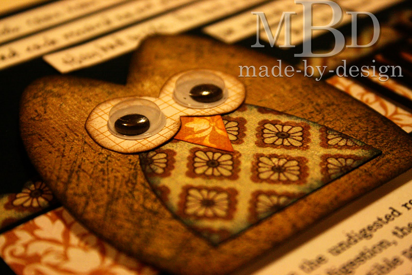 Made By Design Owl Card And Layout