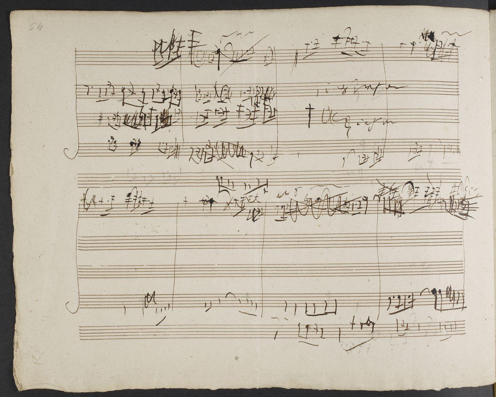 Bach handwriting analysis