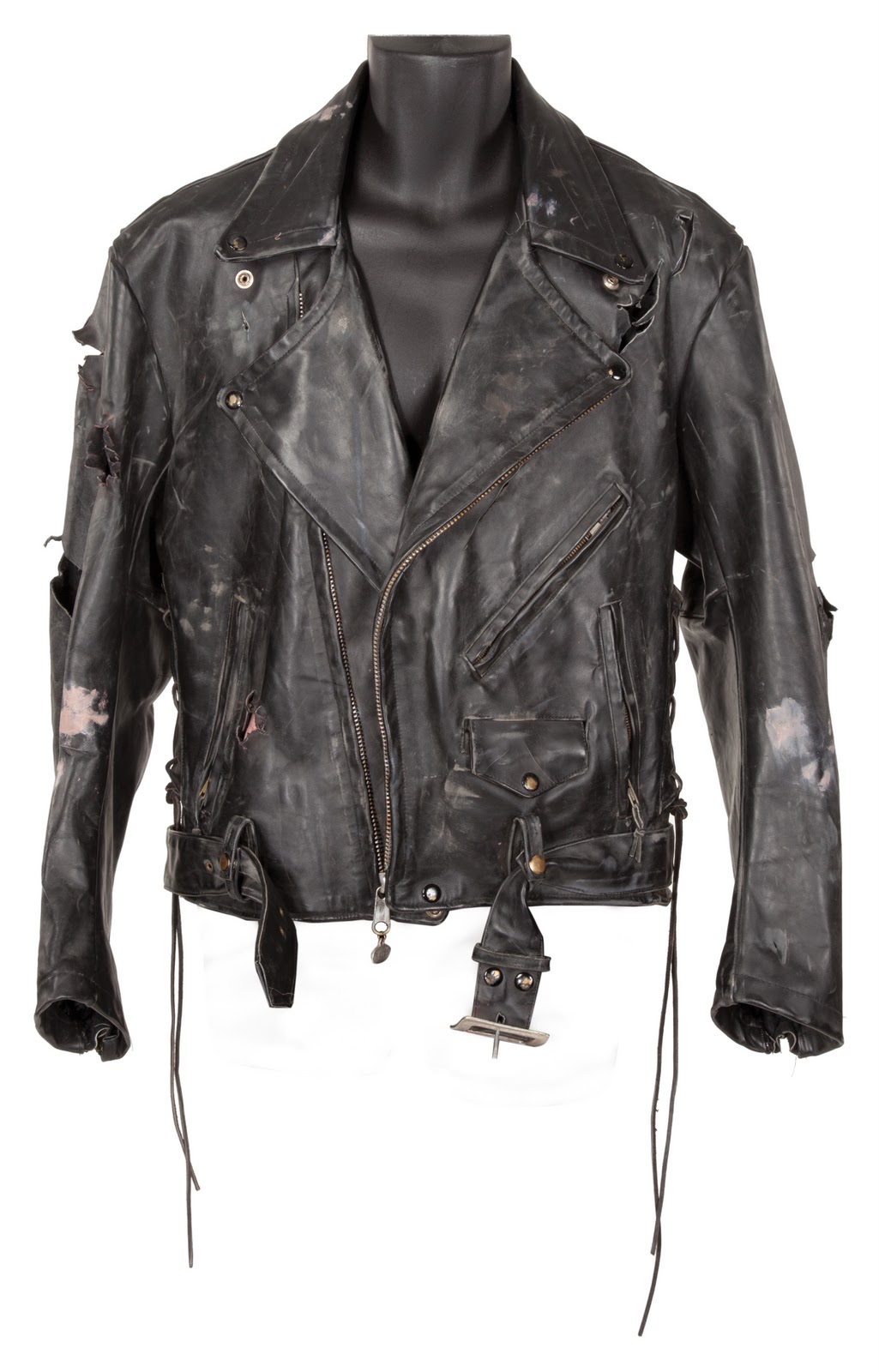 """967994d2 Arnold Schwarzenegger """"The Terminator"""" leather jacket and leather glove  from The Terminator"""