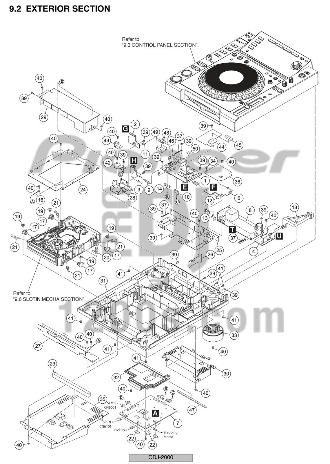 pioneer parts diagram