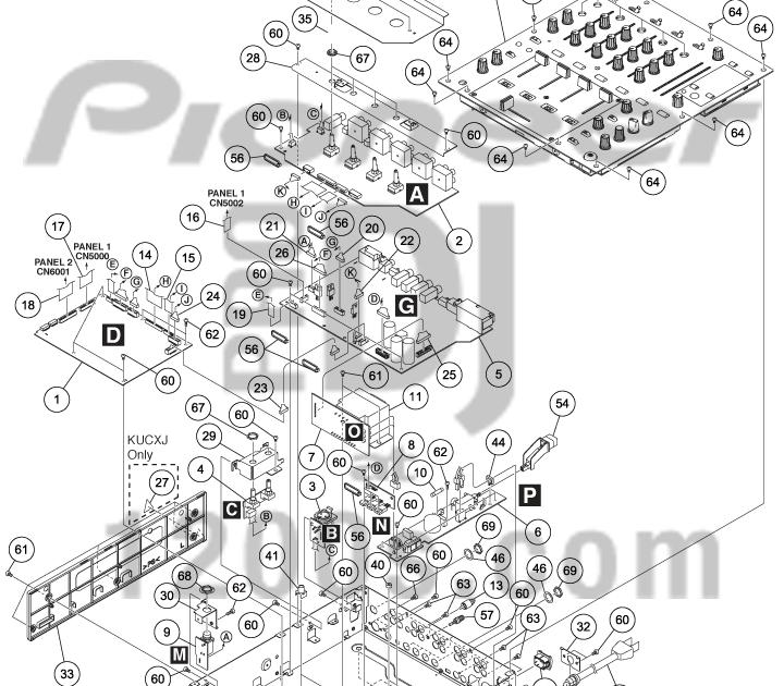 DJ Pro Audio & Service, Repairs: Pioneer DJM700 Exploded
