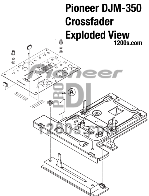 DJ Pro Audio & Service, Repairs: Pioneer DJM Exploded View