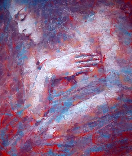 Ewelina Ladzinska | Polish painter | Great lady dances alone