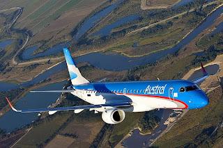 Resultado de imagen para Embraer E 190 + austral