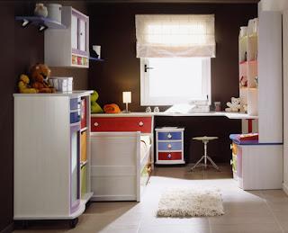 dormitorio infantil blanco de pino