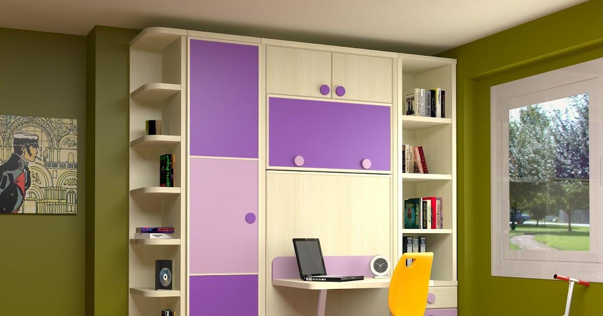 Cama abatible vertical con escritorio incorporado - Xikara camas abatibles ...