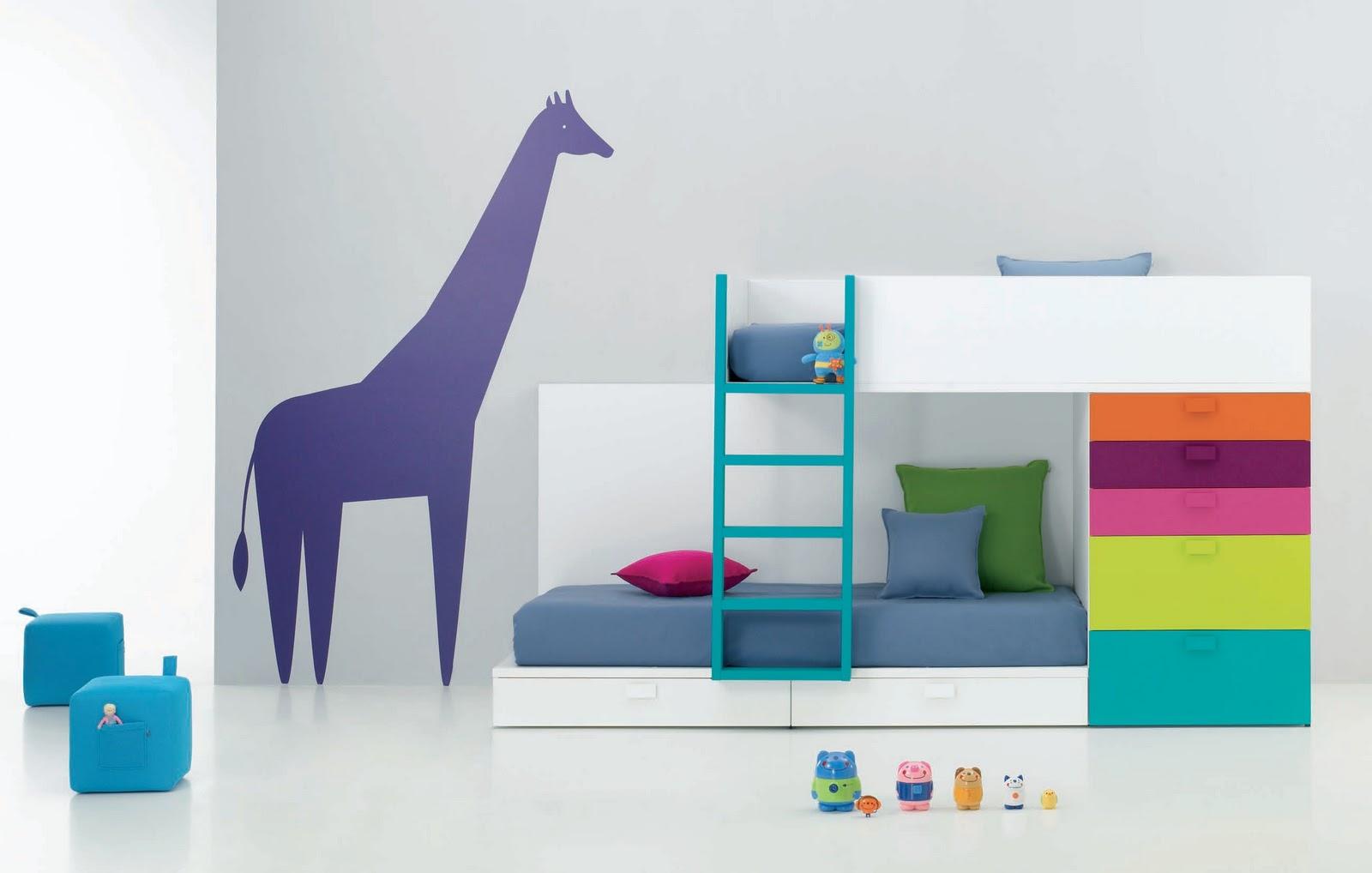 Dormitorios infantiles para ni as ni os de 0 1 2 3 4 y 5 a os for Cama 3 4 medidas