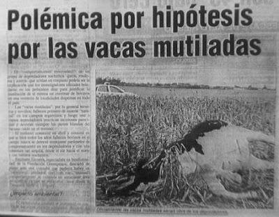 Resultado de imagen de mutilaciones ganado argentina