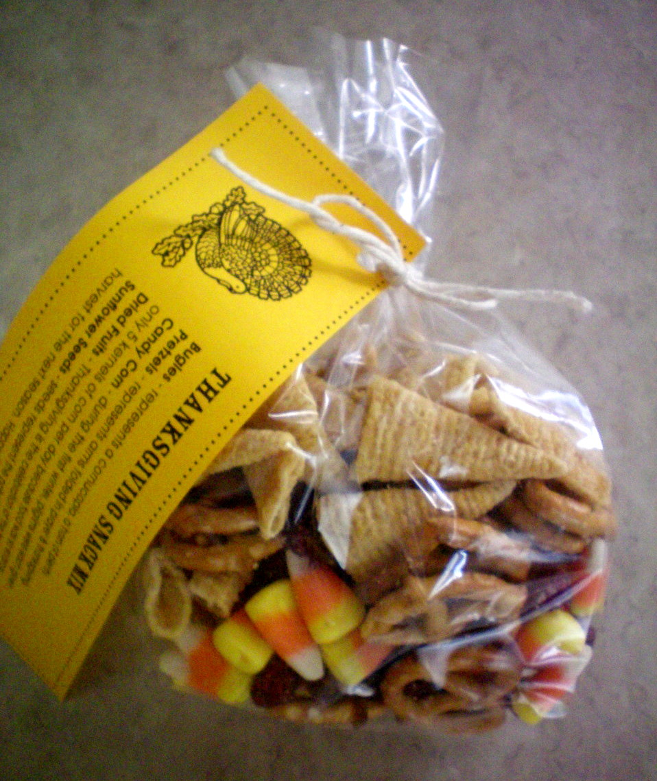 ThanksGiving Snack Mix- And Scotch Tape Winners