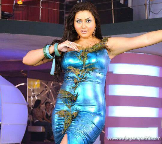 South Hot Actress Namitha Dancing In Blue Dress  Gateway To World Cinema