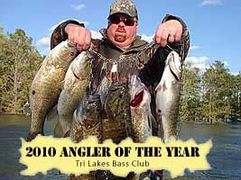 Lake Broken Bow Oklahoma Fishing Guide Bodee Haltom wins Angler of the Year Award from Tri Lakes Bass Club