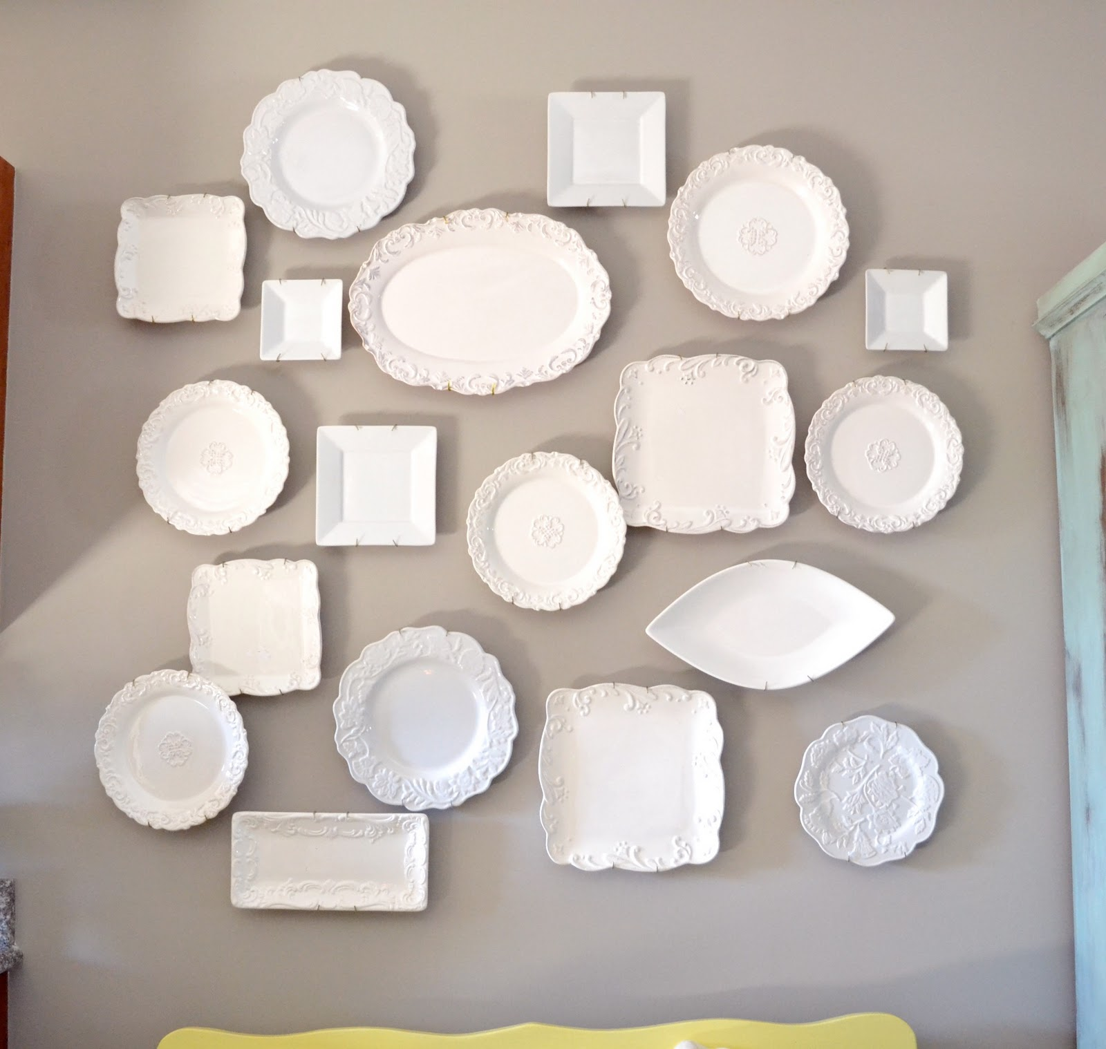 I hope you all love my eclectic plate wall art as much as I do! I am sure I will do some more re-arranging of the plates soon and even add some ... & Eclectic Plate Wall Art... - Liz Marie Blog
