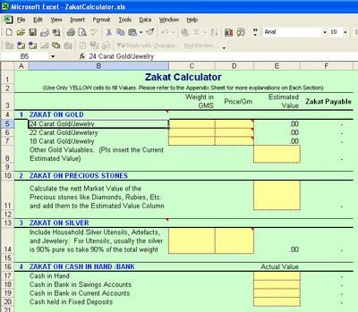 Zakat calculator in excel | stocks | business.