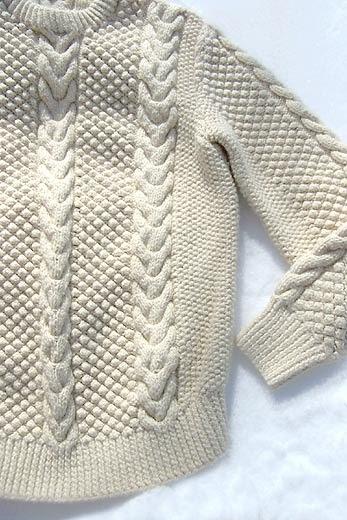 Collage Of Life Irish Knit Sweater Love