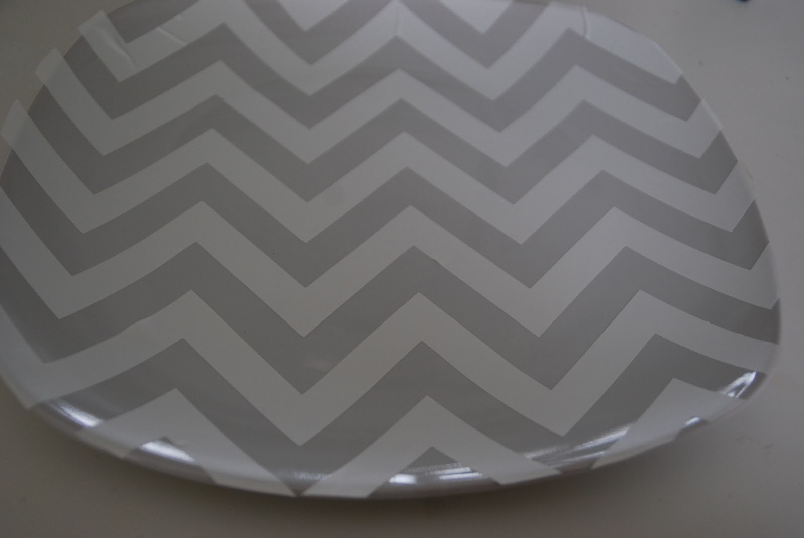 5 challenge 3 different dollar store tiered tray ideas for How to make a chevron template