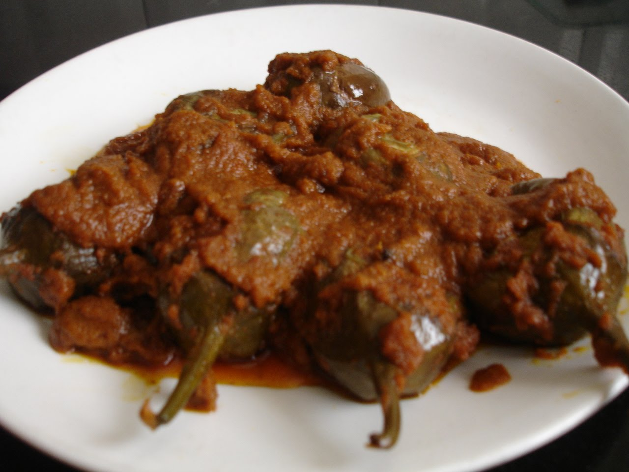 Seetha Kitchen Baingan Masala Stuffed Brinjal