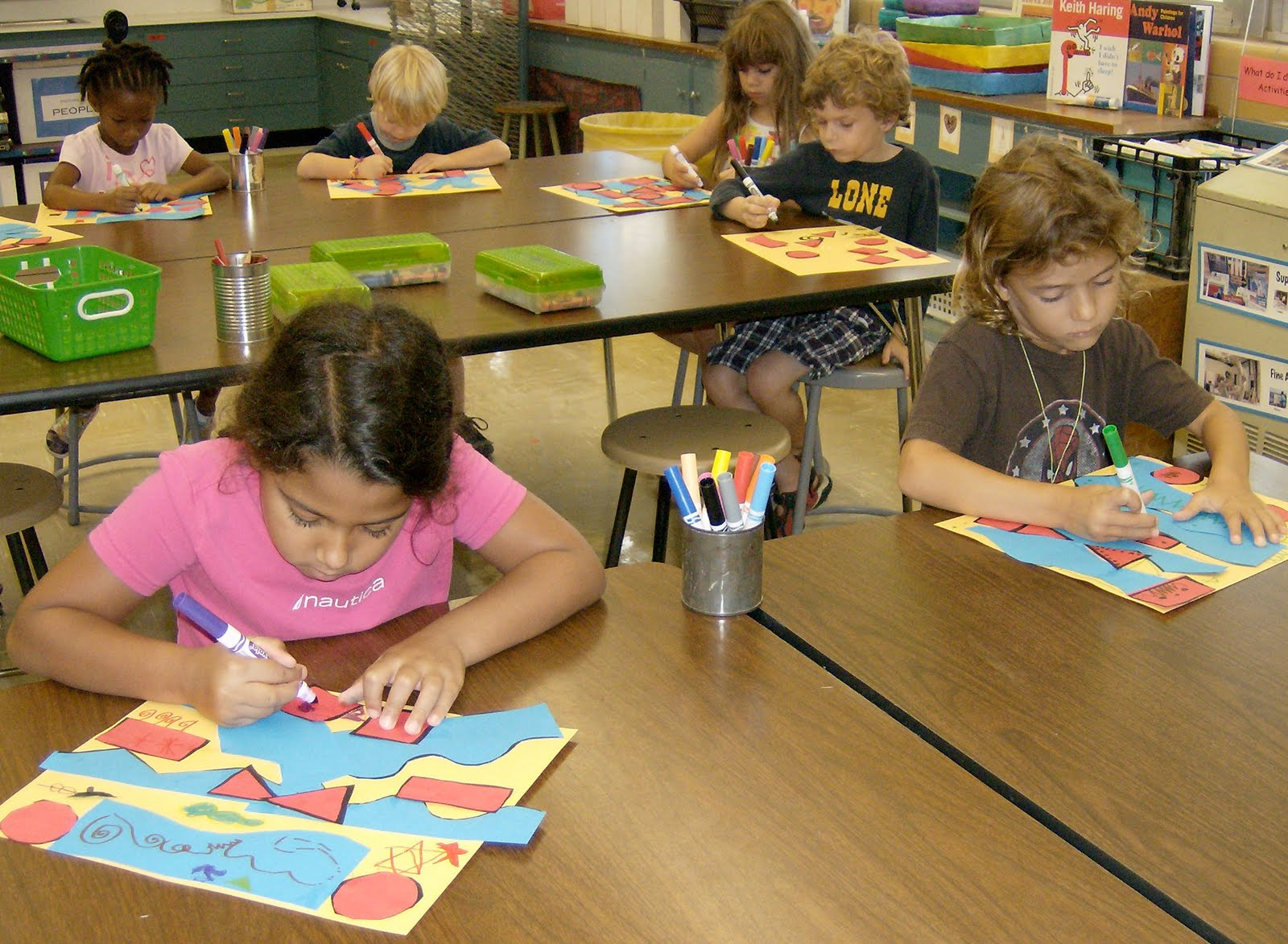 Zilker Elementary Art Class Kinder Collage