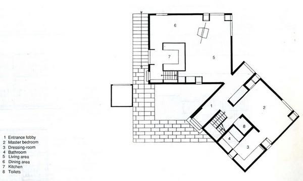 Orange Crate Art Fisher House Louis I Kahn First Floor Plan