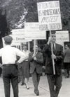 Frank Kameny (middle) and the first gay march on Washington, DC