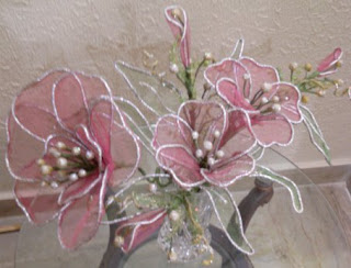 Home Art And Crafts Flower Craft Net Flower Making At Home