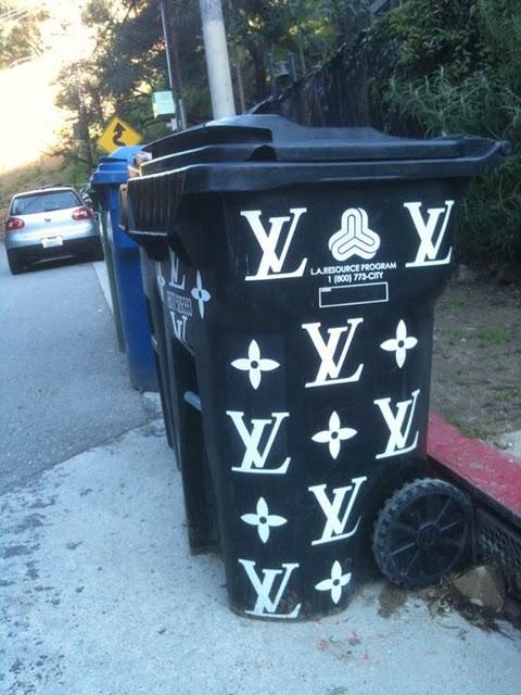 Emm (pronounced Edoublem) Louis Vuitton Trash Cans???