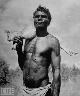 Aboriginal warrior hunter