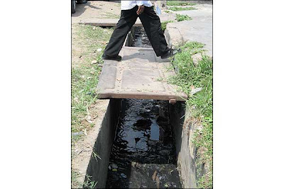 open sewer in  kinshasa