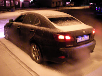 lexus covered in snow
