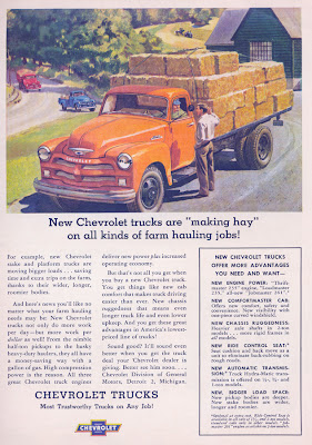 Interesting Vintage Advertisement of Chevrolet trucks