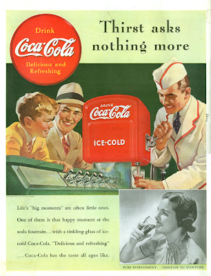Interesting Vintage Advertisement of Coca Cola (Fountain 1939)