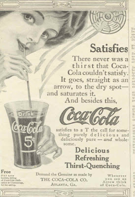 coca colas advertisements spread over a century
