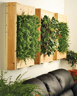 Wall panel indoor planter