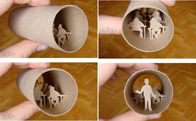 Artwork Created Inside The Toilet Paper Rolls (15) 7