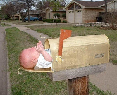 Baby in mail