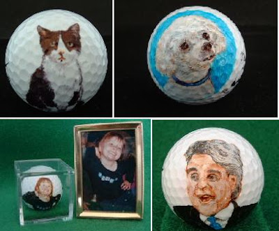 Hand Painted Golf Ball Art (3) 3