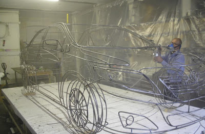 Real Wireframe Of Toyota Corolla Sculpture By Benedict Radcliffe (7) 4