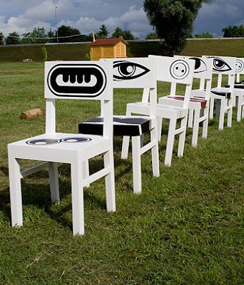 hand painted chairs (5) 4