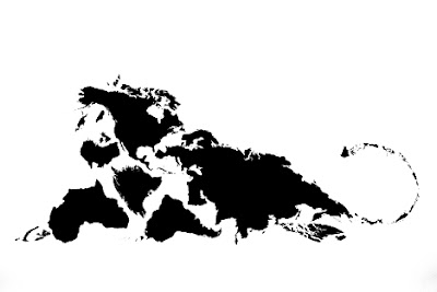 Twelve Animals Created From World Map (12) 3