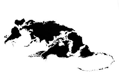 Twelve Animals Created From World Map (12) 1