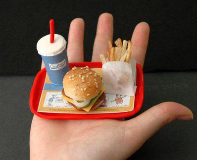 Worlds Smallest Burger, Fries & Soda Meal