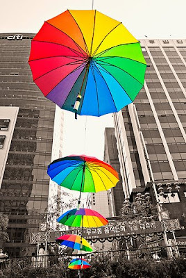 Umbrella Art Installations.